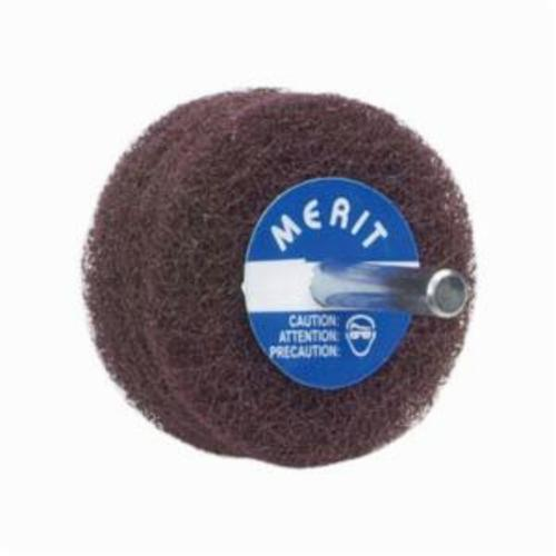 Norton® Merit® Bear-Tex® 08834131560 Non-Woven Disc Wheel, 3 in Dia, 1/4 in Center Hole, 1/2 in W Face, Very Fine Grade, Aluminum Oxide Abrasive
