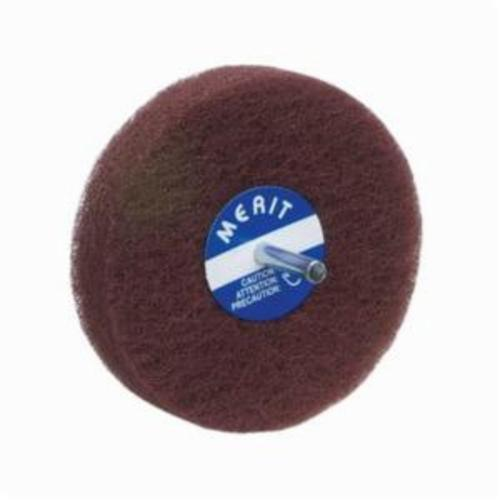 Merit® Bear-Tex® 08834131562 Non-Woven Disc Wheel, 4 in Dia, 1/4 in Center Hole, 1/2 in W Face, Fine Grade, Aluminum Oxide Abrasive