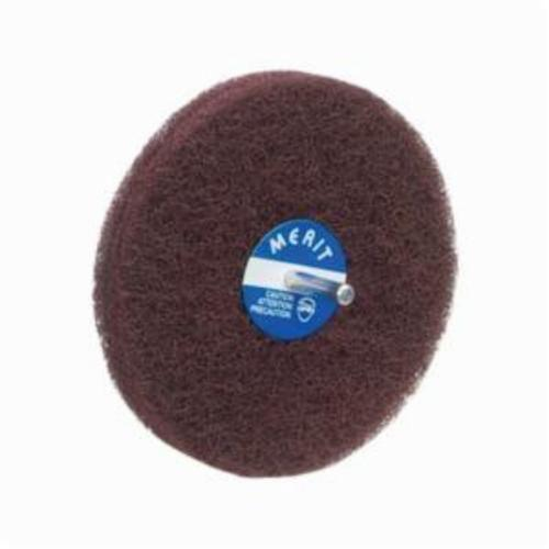 Norton® Merit® Bear-Tex® 08834131567 Non-Woven Disc Wheel, 5 in Dia, 1/4 in Center Hole, 1/2 in W Face, Medium Grade, Aluminum Oxide Abrasive