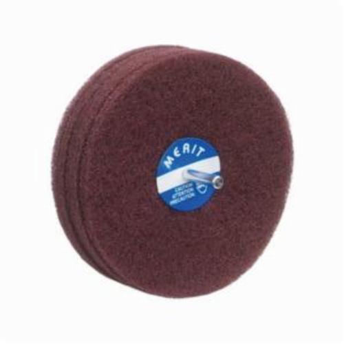 Merit® Bear-Tex® 08834131571 Non-Woven Disc Wheel, 5 in Dia, 1/4 in Center Hole, 1 in W Face, Fine Grade, Aluminum Oxide Abrasive