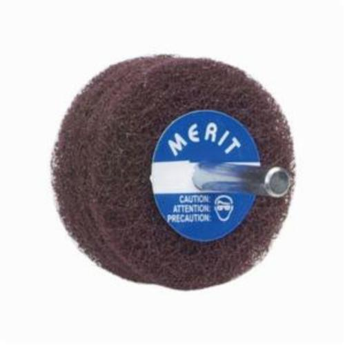 Merit® Abrasotex™ 08834131572 Non-Woven Disc Wheel, 5 in Dia, 1/4 in Center Hole, 1 in W Face, Very Fine Grade, Aluminum Oxide Abrasive