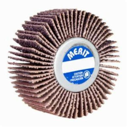 Merit® Grind-O-Flex™ 08834135010 XX-3007 High Performance Mini Mounted Quick-Change Small Diameter Coated Flap Wheel, 3 in Dia, 3/4 in W Face, P120 Grit, Medium Grade, Aluminum Oxide Abrasive