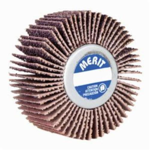 Merit® Grind-O-Flex™ 08834135018 XX-3010 High Performance Mini Mounted Quick-Change Small Diameter Coated Flap Wheel, 3 in Dia, 1 in W Face, P180 Grit, Fine Grade, Aluminum Oxide Abrasive