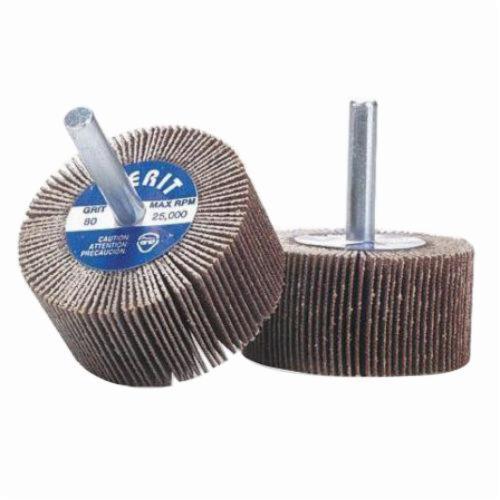 Merit® Grind-O-Flex™ 08834137482 MM-5858 High Performance Micro-Mini Mounted Coated Flap Wheel, 5/8 in Dia, 5/8 in W Face, 1/8 in Dia Shank, P120 Grit, Medium Grade, Aluminum Oxide Abrasive