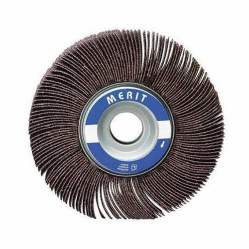 Merit® Grind-O-Flex™ 08834137541 MM-5834 High Performance Micro-Mini Mounted Coated Flap Wheel, 5/8 in Dia, 3/4 in W Face, 1/8 in Dia Shank, P80 Grit, Medium Grade, Aluminum Oxide Abrasive