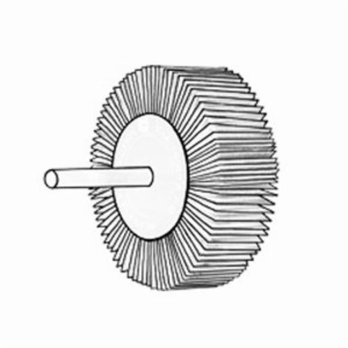Norton® Merit® Grind-O-Flex™ 08834137552 MM-3436 Micro-Mini Coated Flap Wheel, 3/4 in Dia Wheel, 3/16 in W Face, 1/8 in Dia Shank, 120 Grit, Fine Grade, Aluminum Oxide Abrasive