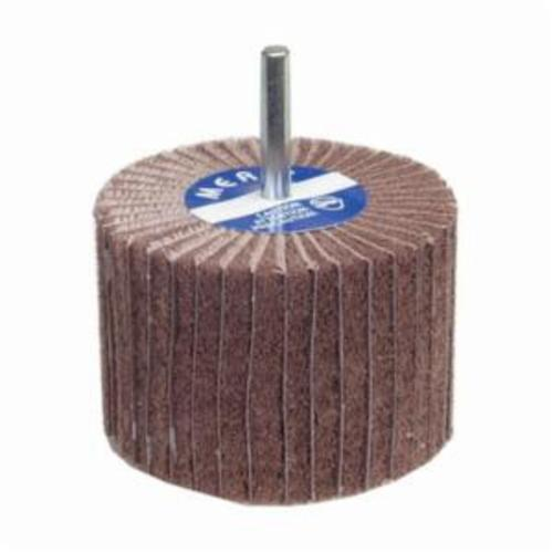 Merit® 08834138124 Spindle Mounted Non-Woven Flap Wheel, 2 in Dia Wheel, 1-1/2 in W Face, 1/4 in Dia Shank, 60 Grit, Coarse Grade, Aluminum Oxide Abrasive