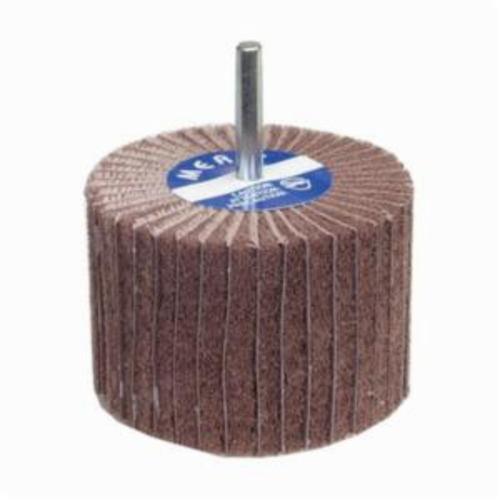 Merit® Bear-Tex® 08834138128 Non-Woven Flap Wheel, 2 in Dia, 1-1/2 in W Face, 1/4 in Dia Shank, 320 Grit, Very Fine Grade, Aluminum Oxide Abrasive