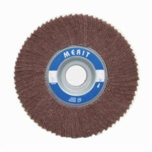Norton® Merit® Bear-Tex® 08834139001 Non-Woven Flap Wheel, 3 in Dia, 2 in W Face, 120 Grit, Very Fine Grade, Aluminum Oxide Abrasive
