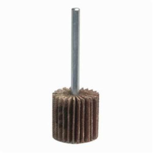Norton® Merit® 08834149810 Mini Small Diameter Coated Flap Wheel, 1-1/2 in Dia Wheel, 1/2 in W Face, 1/4 in Dia Shank, 60 Grit, Coarse Grade, Aluminum Oxide Abrasive