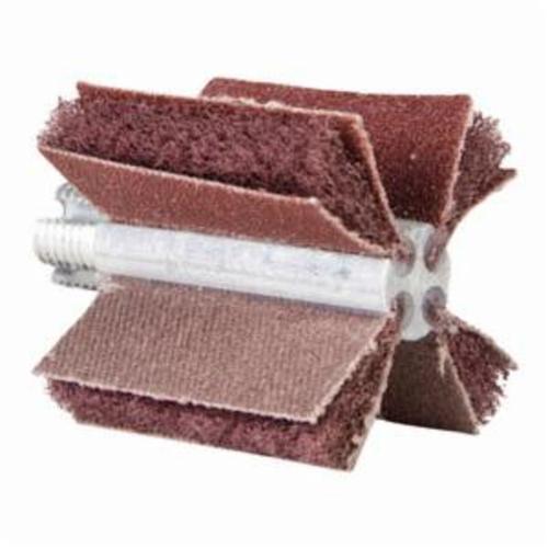 Merit® 08834150271 B-405 Non-Woven Bore Polisher, 1-1/2 in ID x 1-3/4 in OD Dia, P80 Grit, Medium Grade, Aluminum Oxide Abrasive