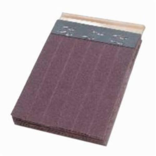 Merit® FlexDrum™ 08834155432 Slashed Abrasive Segment, 4 in W x 3 in W x 1/2 in THK, 80 Grit, Premium Aluminum Oxide Abrasive