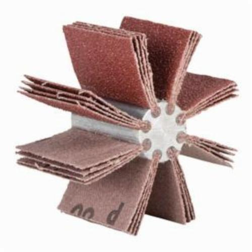 Norton® Merit® 08834154147 B-815 6-Ply Plain Flap Coated Bore Polisher, 1-1/2 in ID x 3-3/4 in OD Dia, P120 Grit, Aluminum Oxide Abrasive