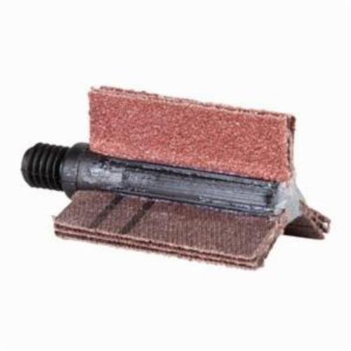 Merit® 08834154193 B-305 5-Ply Plain Flap Coated Bore Polisher, 1-1/8 in ID x 1-1/2 in OD Dia, P120 Grit, Fine Grade, Aluminum Oxide Abrasive