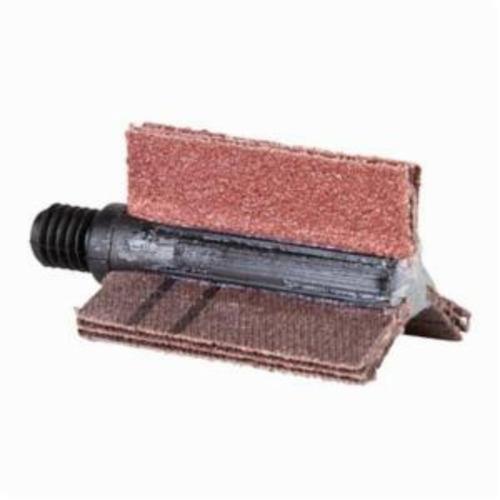 Norton® Merit® 08834154197 B-305 5-Ply Plain Flap Coated Bore Polisher, 1-1/8 in ID x 1-1/2 in OD Dia, P240 Grit, Aluminum Oxide Abrasive
