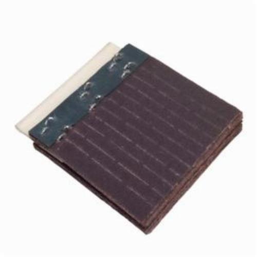Norton® Merit® FlexDrum™ 08834155119 Scored Abrasive Segment, 2-3/4 in H x 4 in W x 1/4 in THK, 80 Grit, Medium Grade, Premium Aluminum Oxide Abrasive