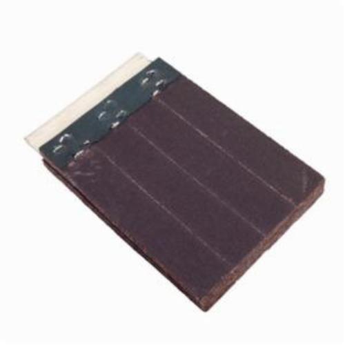 Norton® Merit® FlexDrum™ 08834155421 Slashed Abrasive Segment, 4 in H x 2 in W x 1/2 in THK, 80 Grit, Medium Grade, Premium Aluminum Oxide Abrasive