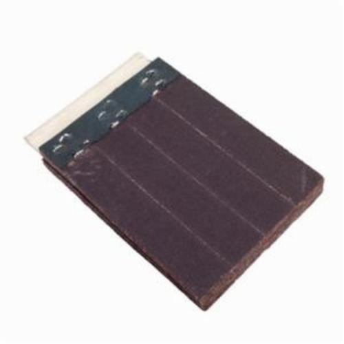 Merit® FlexDrum™ 08834155425 Slashed Abrasive Segment, 4 in W x 2 in W x 1/2 in THK, 180 Grit, Premium Aluminum Oxide Abrasive