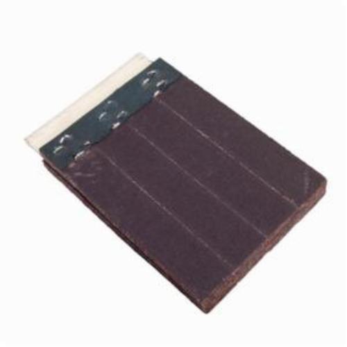 Merit® FlexDrum™ 08834155445 Slashed Abrasive Segment, 4 in W x 4 in W x 1/2 in THK, 80 Grit, Medium Grade, Premium Aluminum Oxide Abrasive