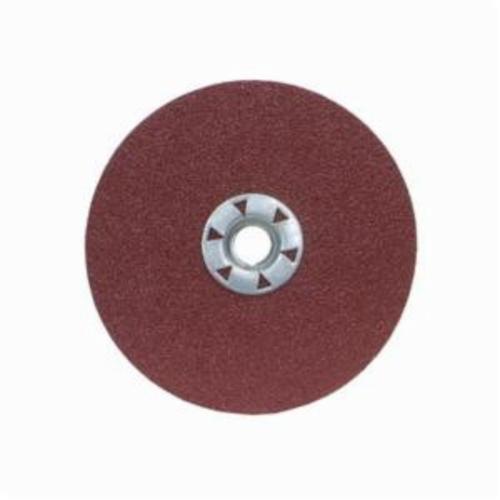 Merit® 08834159137 Heavy Duty Quick-Change Coated Abrasive Disc, 4-1/2 in Dia, 5/8-11 Center Hole, 36 Grit, Extra Coarse Grade, Ceramic Alumina Abrasive, Threaded Attachment