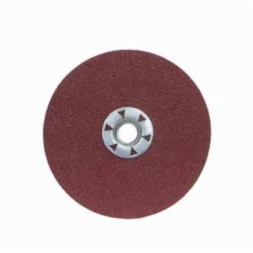 Merit® 08834159146 Heavy Duty Quick-Change Coated Abrasive Disc, 7 in Dia, 5/8-11 Center Hole, 50 Grit, Coarse Grade, Ceramic Alumina Abrasive, Threaded Attachment