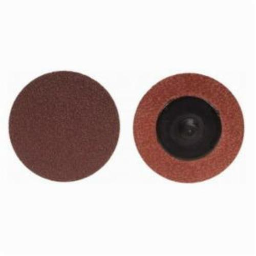 Merit® 69957399675 Coated Abrasive Quick-Change Disc, 3/4 in Dia, 100 Grit, Medium Grade, Aluminum Oxide Abrasive, Type TR (Type III) Attachment