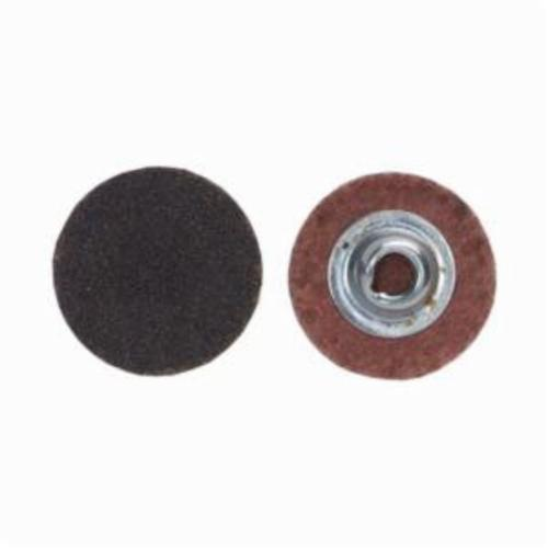 Merit® PowerLock® FlexEdge™ 08834160396 ALO Flexible Coated Abrasive Quick-Change Disc, 1 in Dia, 100 Grit, Medium Grade, Aluminum Oxide Abrasive, Type TS (Type II) Attachment