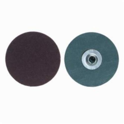 Merit® PowerLock® fx 08834161167 ALO Plus Close Flexible Coated Abrasive Quick-Change Disc, 1 in Dia, 80 Grit, Coarse Grade, Aluminum Oxide Abrasive, Type TS (Type II) Attachment