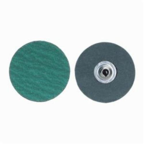 Merit® PowerLock® fx 08834161296 Flexible Coated Abrasive Quick-Change Disc, 2 in Dia, 80 Grit, Coarse Grade, Zirconia Alumina Abrasive, Type TS (Type II) Attachment