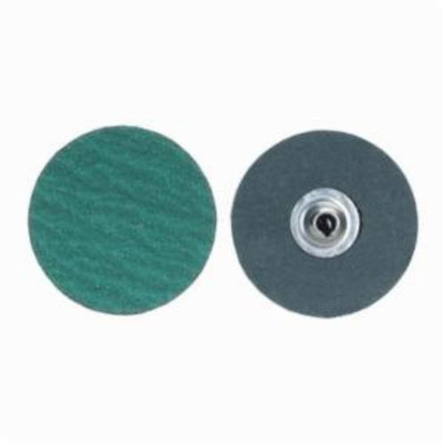 Norton® Merit® PowerLock® fx 08834161375 Zirc Plus R801 Flexible Coated Abrasive Quick-Change Disc, 1 in Dia, 120 Grit, Medium Grade, Zirconia Alumina Abrasive, Type TS (Type II) Attachment