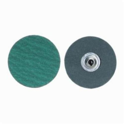 Merit® PowerLock® fx 08834161383 Zirc Plus R801 Flexible Coated Abrasive Quick-Change Disc, 1-1/2 in Dia, 60 Grit, Coarse Grade, Zirconia Alumina Abrasive, Type TS (Type II) Attachment