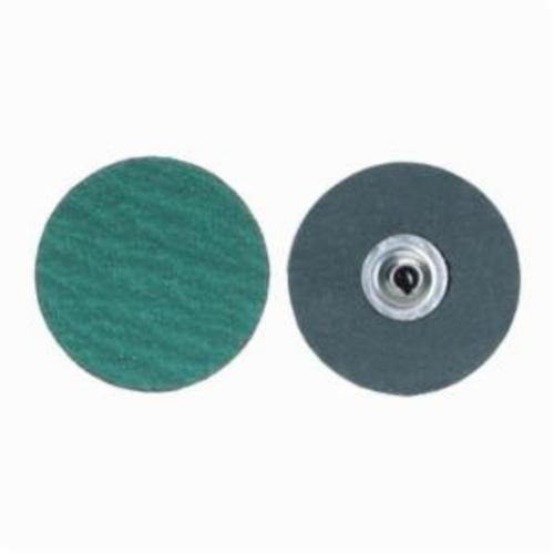 Norton® Merit® PowerLock® fx 08834161392 Zirc Plus R801 Flexible Coated Abrasive Quick-Change Disc, 1-1/2 in Dia, 120 Grit, Medium Grade, Zirconia Alumina Abrasive, Type TS (Type II) Attachment