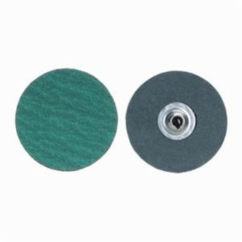 Merit® PowerLock® fx 08834161393 Zirc Plus R801 Flexible Coated Abrasive Quick-Change Disc, 2 in Dia, 36 Grit, Extra Coarse Grade, Zirconia Alumina Abrasive, Type TS (Type II) Attachment
