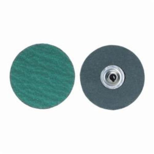 Merit® PowerLock® fx 08834161398 Zirc Plus R801 Flexible Coated Abrasive Quick-Change Disc, 2 in Dia, 60 Grit, Coarse Grade, Zirconia Alumina Abrasive, Type TS (Type II) Attachment