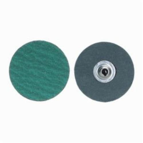 Merit® PowerLock® fx 08834161406 Zirc Plus R801 Flexible Coated Abrasive Quick-Change Disc, 2 in Dia, 80 Grit, Coarse Grade, Zirconia Alumina Abrasive, Type TS (Type II) Attachment