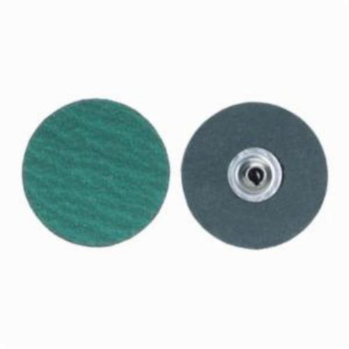 Norton® Merit® PowerLock® fx 08834161426 Zirc Plus R801 Flexible Coated Abrasive Quick-Change Disc, 2 in Dia, 120 Grit, Medium Grade, Zirconia Alumina Abrasive, Type TS (Type II) Attachment
