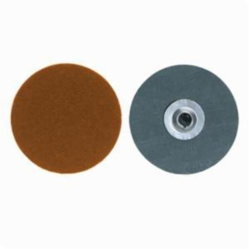 Merit® PowerLock® fx 08834161477 Flexible Coated Abrasive Quick-Change Disc, 1 in Dia, 60 Grit, Coarse Grade, Ceramic Blend Abrasive, Type TS (Type II) Attachment
