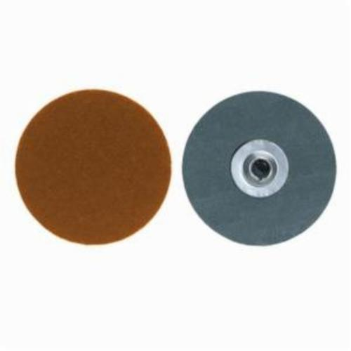 Merit® PowerLock® fx 08834161495 Flexible Coated Abrasive Quick-Change Disc, 2 in Dia, 60 Grit, Coarse Grade, Ceramic Blend Abrasive, Type TS (Type II) Attachment