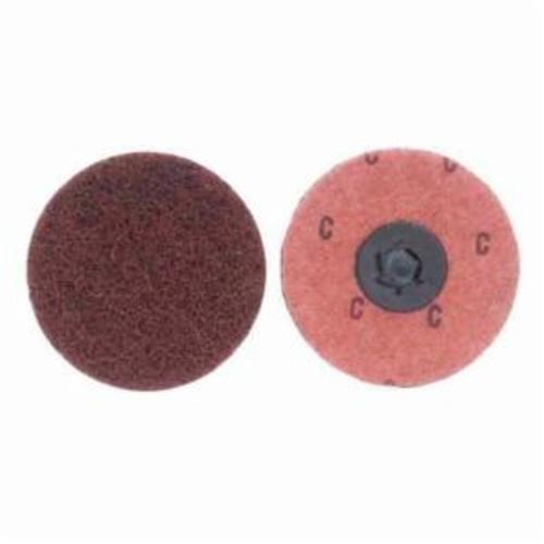 Merit® Buffing 08834161627 Quick-Change Non-Woven Abrasive Disc, 2 in Dia, Type TP (Type I) Attachment, Aluminum Oxide, Coarse Grade