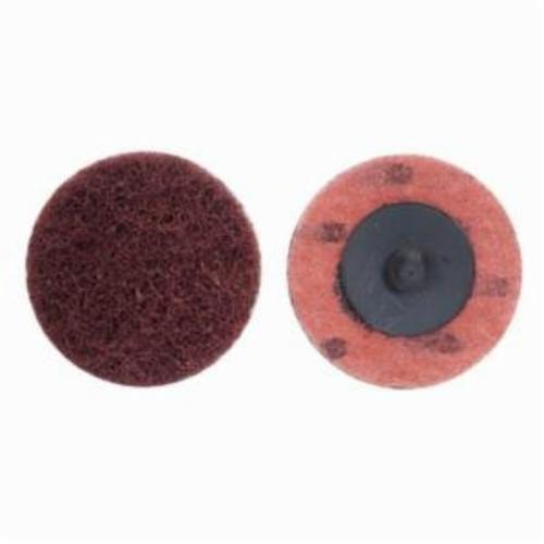 Merit® Buffing 08834161649 Quick-Change Non-Woven Abrasive Disc, 2 in Dia, Type TR (Type III) Attachment, Aluminum Oxide, Coarse Grade