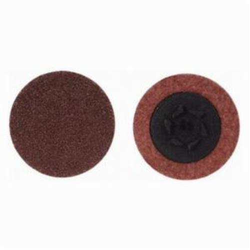 Merit® 69957399762 Coated Abrasive Quick-Change Disc, 1-1/2 in Dia, 36 Grit, Extra Coarse Grade, Aluminum Oxide Abrasive, Type TP (Type I) Attachment
