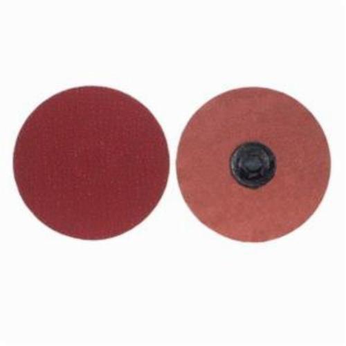 Merit® PowerLock® 08834163030 Ultra Ceramic Plus Coated Abrasive Quick-Change Disc, 1 in Dia, 40 Grit, Extra Coarse Grade, Ceramic Alumina Abrasive, Type TP (Type I) Attachment