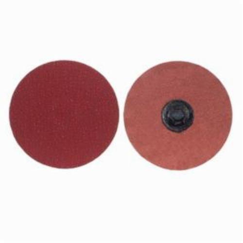 Norton® Merit® PowerLock® 08834163238 Ultra Ceramic Plus Coated Abrasive Quick-Change Disc, 3 in Dia, 36 Grit, Extra Coarse Grade, Ceramic Alumina Abrasive, Type TP (Type I) Attachment