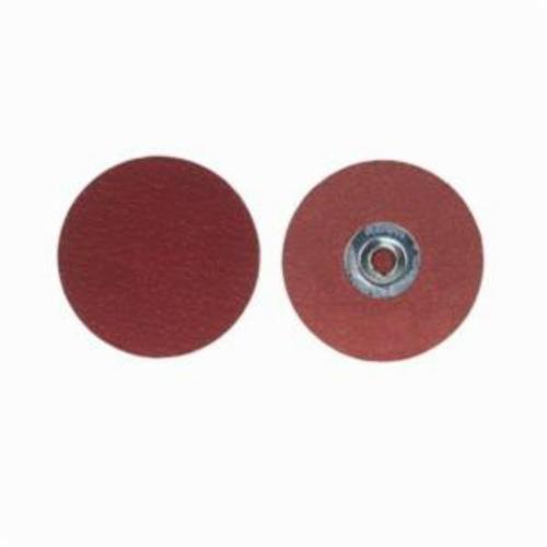 Merit® PowerLock® 08834163273 Ultra Ceramic Plus Coated Abrasive Quick-Change Disc, 1-1/2 in Dia, 80 Grit, Coarse Grade, Ceramic Alumina Abrasive, Type TS (Type II) Attachment