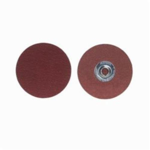 Merit® PowerLock® 08834163317 Ultra Ceramic Plus Coated Abrasive Quick-Change Disc, 9/16 in Dia, 50 Grit, Coarse Grade, Ceramic Alumina Abrasive, Type TS (Type II) Attachment