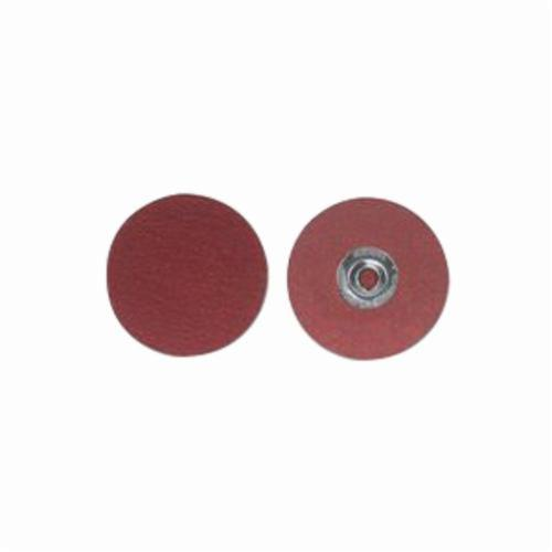 Merit® PowerLock® 08834163318 Ultra Ceramic Plus Coated Abrasive Quick-Change Disc, 9/16 in Dia, 60 Grit, Coarse Grade, Ceramic Alumina Abrasive, Type TS (Type II) Attachment