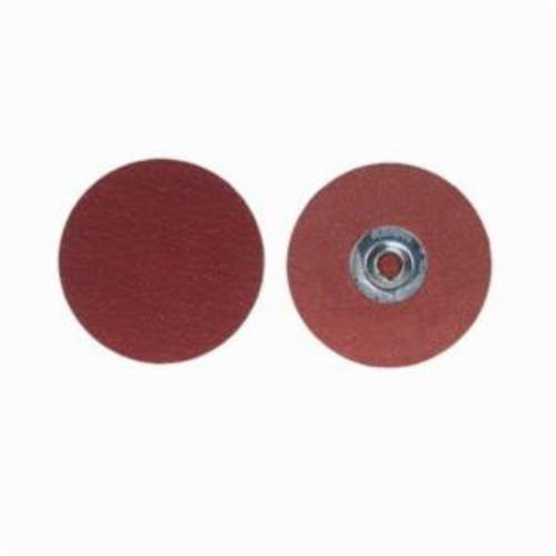 Merit® PowerLock® 08834163385 Ultra Ceramic Plus Coated Abrasive Quick-Change Disc, 3 in Dia, 50 Grit, Coarse Grade, Ceramic Alumina Abrasive, Type TS (Type II) Attachment