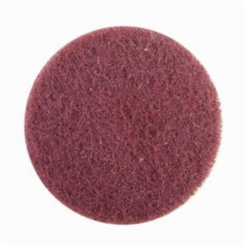 Merit® High Strength 08834163559 Quick-Change Non-Woven Abrasive Disc, 3 in Dia, Type TR (Type III) Attachment, Aluminum Oxide, Very Fine Grade