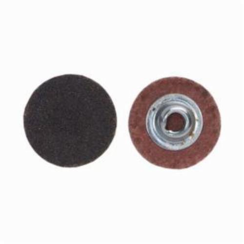 Merit® PowerLock® FlexEdge™ 08834163714 ALO Flexible Coated Abrasive Quick-Change Disc, 1-1/2 in Dia, 100 Grit, Medium Grade, Aluminum Oxide Abrasive, Type TS (Type II) Attachment
