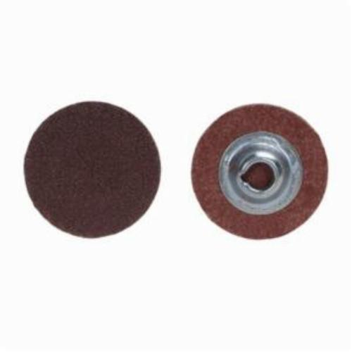 Merit® PowerLock® 08834163963 ALO Plus Coated Abrasive Quick-Change Disc, 4 in Dia, 80 Grit, Coarse Grade, Aluminum Oxide Abrasive, Type TS (Type II) Attachment